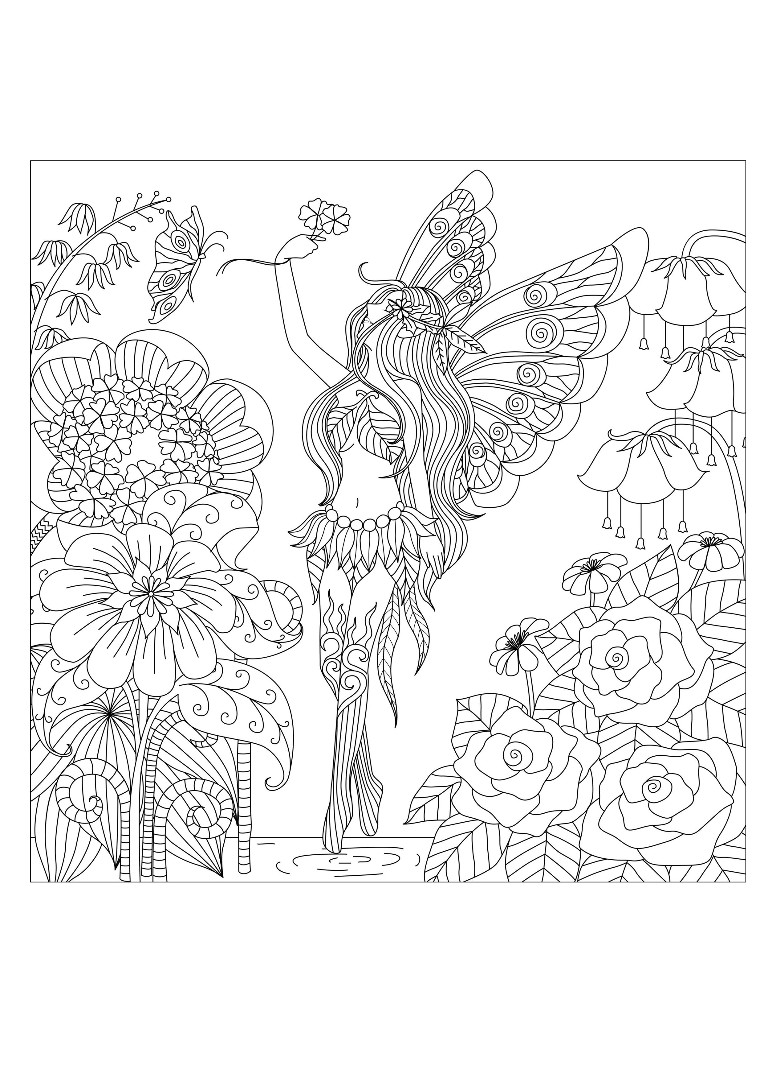 Pages adults flowers queen by bimdeedeeFrom the gallery : 2016 ...