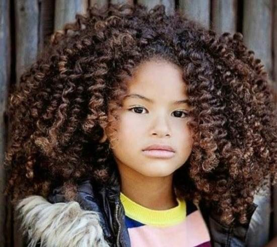 Short Cuts for Thick Curly Hair of Your Kid #africanamericanhair