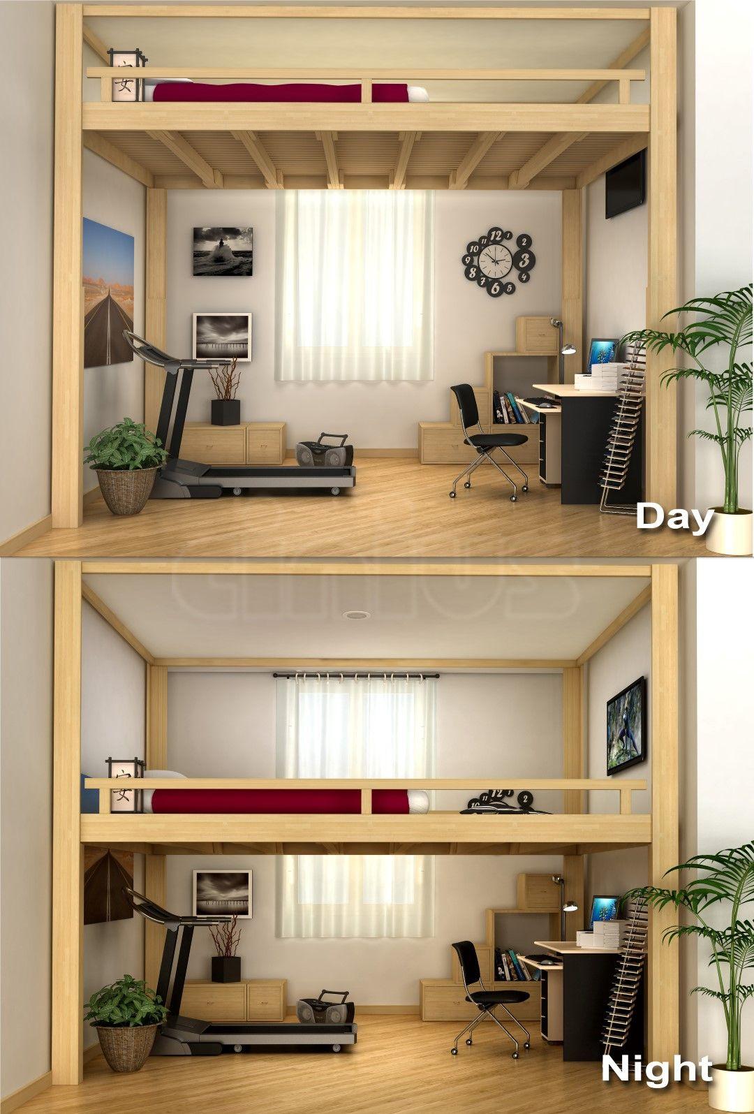 Soppalco rising sembrano due stanze diverse vero il for Camera da letto soppalco