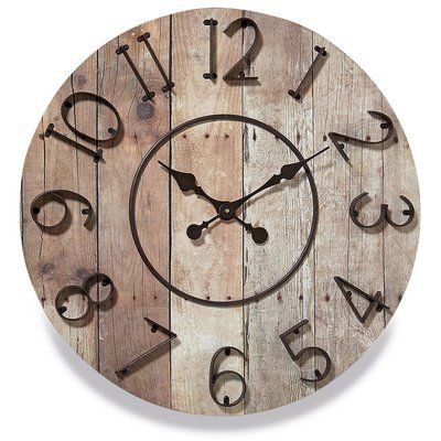 Gracie Oaks Oversized Arleigh Iconic Farmer S 27 5 Wall Clock Wall Clock Clock Handmade Wall Clocks