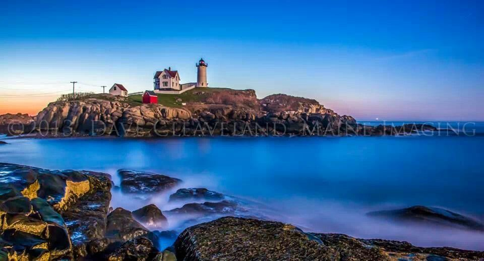 Nubble Light; 6-minute exposure in moonlight, shot 90-minutes before sunrise.  By Maine Imaging
