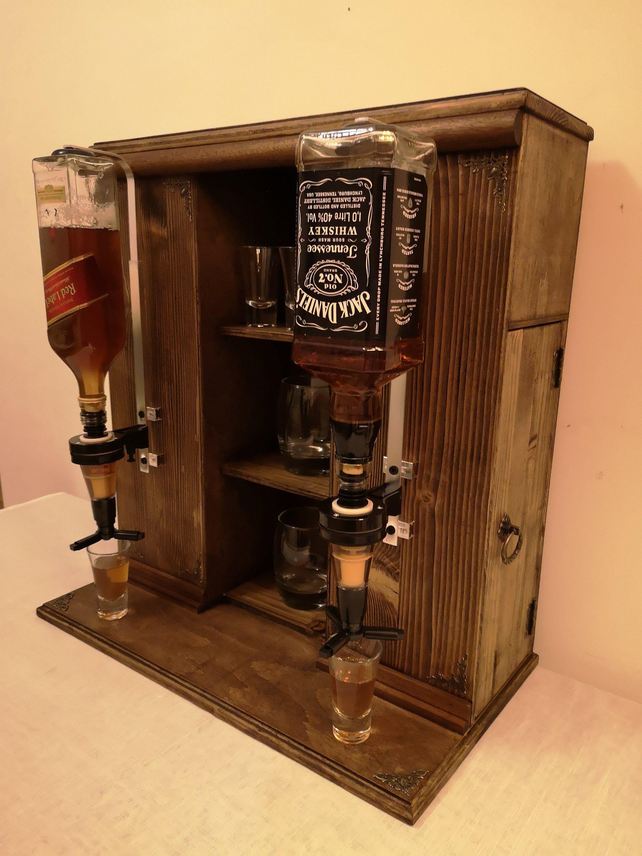 Whiskey Bar Mini Baralcohol Dispenserwhiskey Standwhiskey Etsy