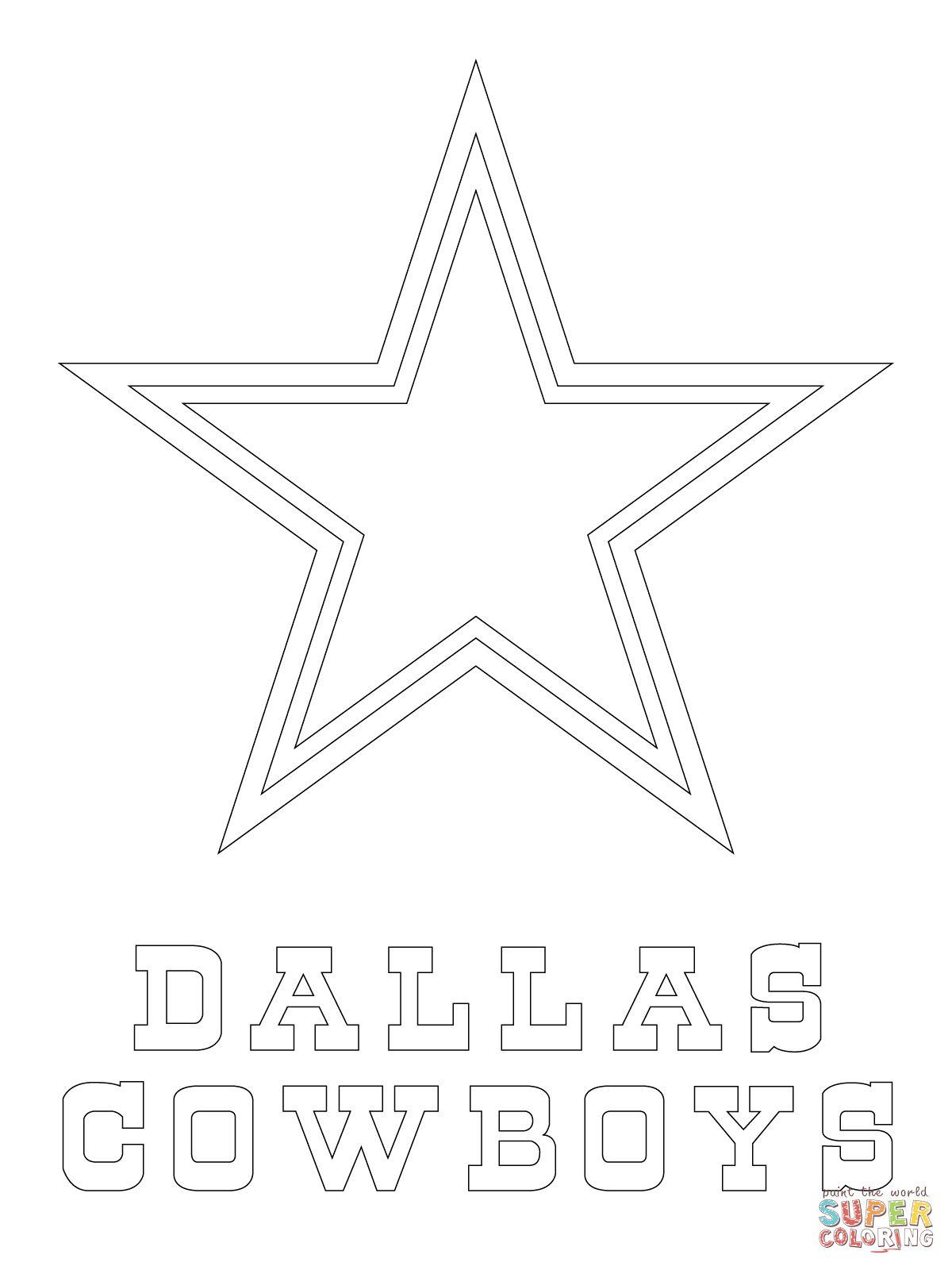 Dallas Cowboys Logo | Super Coloring | cowboys | Dallas ...