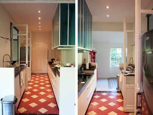 cuisine dans un couloir | CUISINE | Pinterest