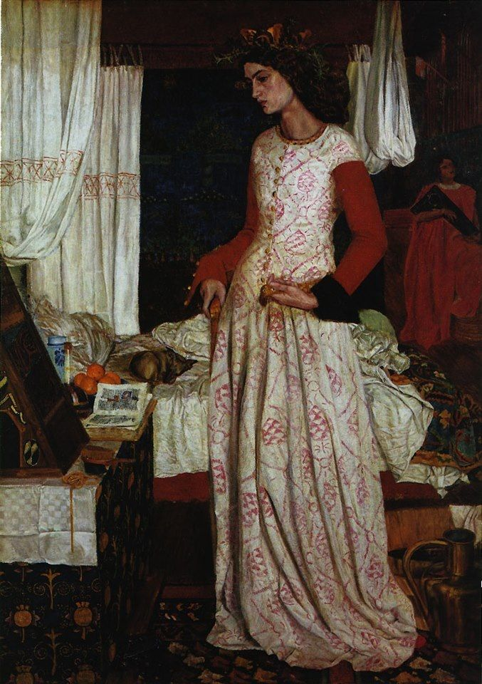 Queen Guinevere -   William Morris (1834–1896) c.  1858