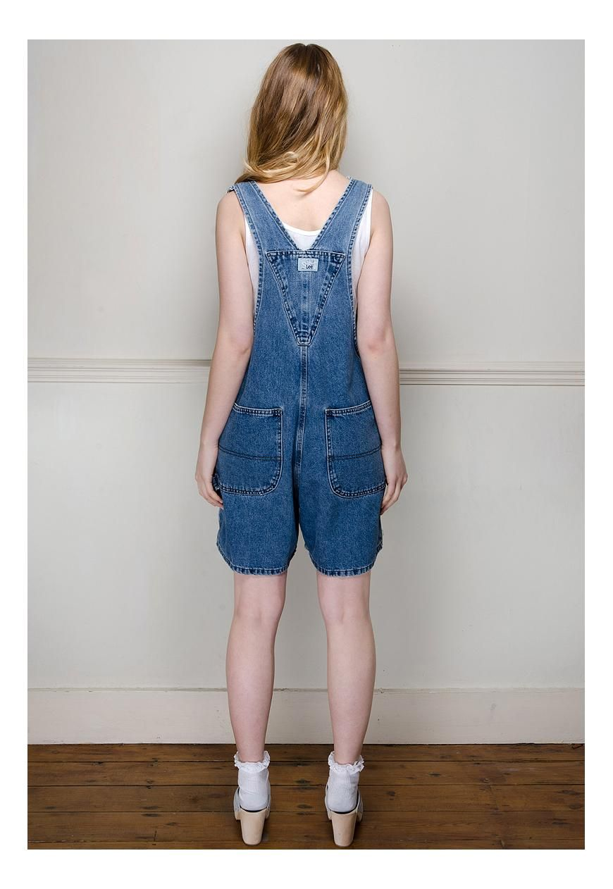 Woman in Dungarees Back