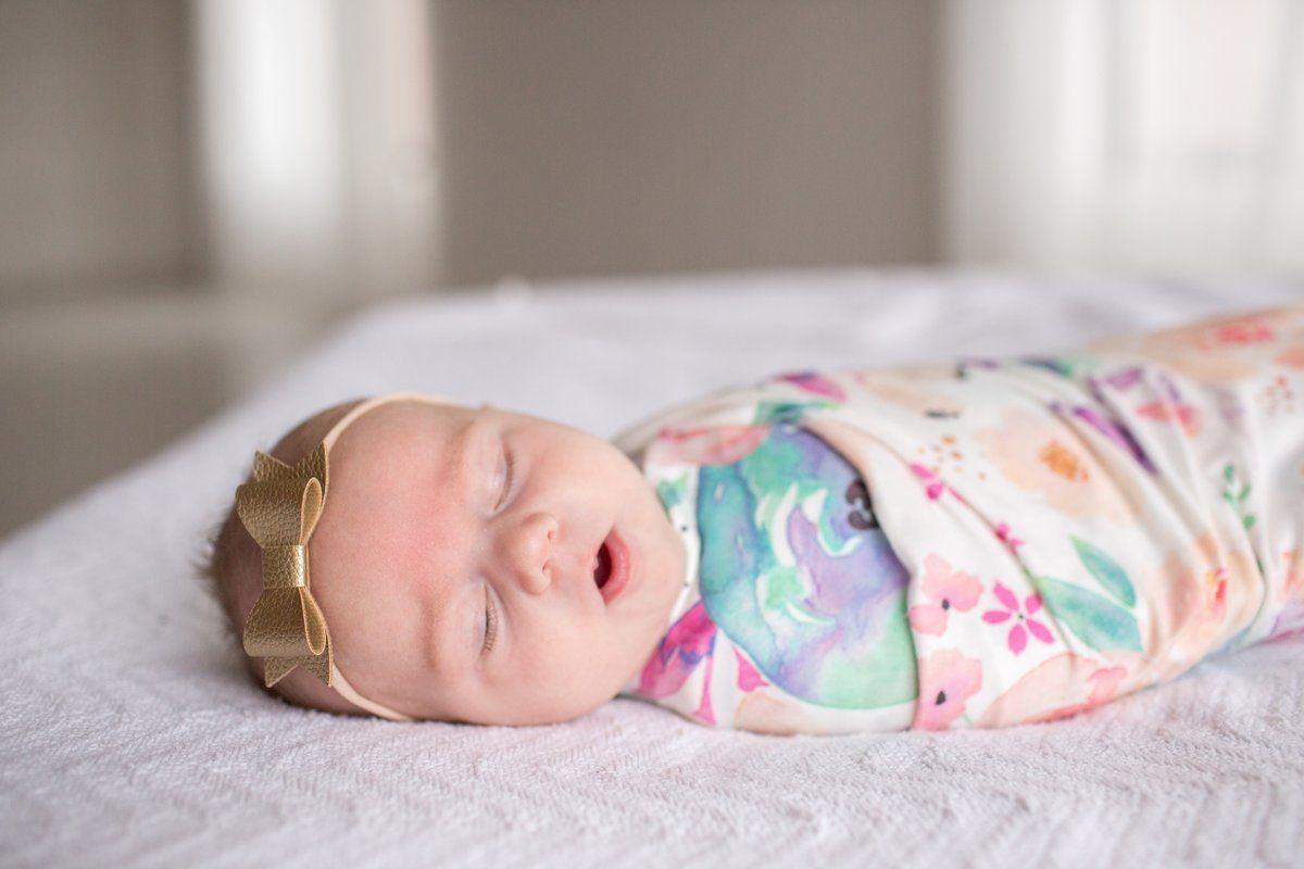 Knit Swaddle Blanket - Bloom