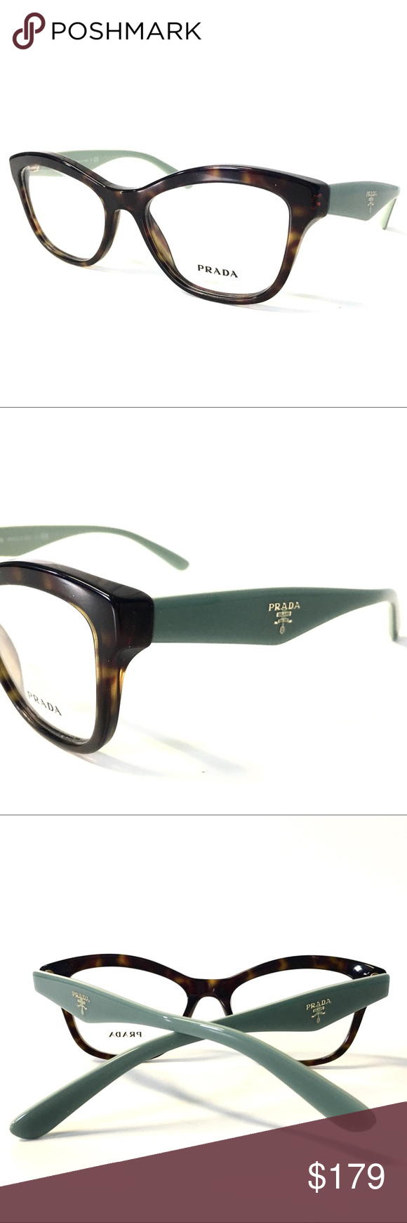 cd414e5b550b Prada Eyeglasses Tortoise Mint Green Cat Eye NEW Prada Eyeglasses Tortoise Mint  Green Cat Eye NEW