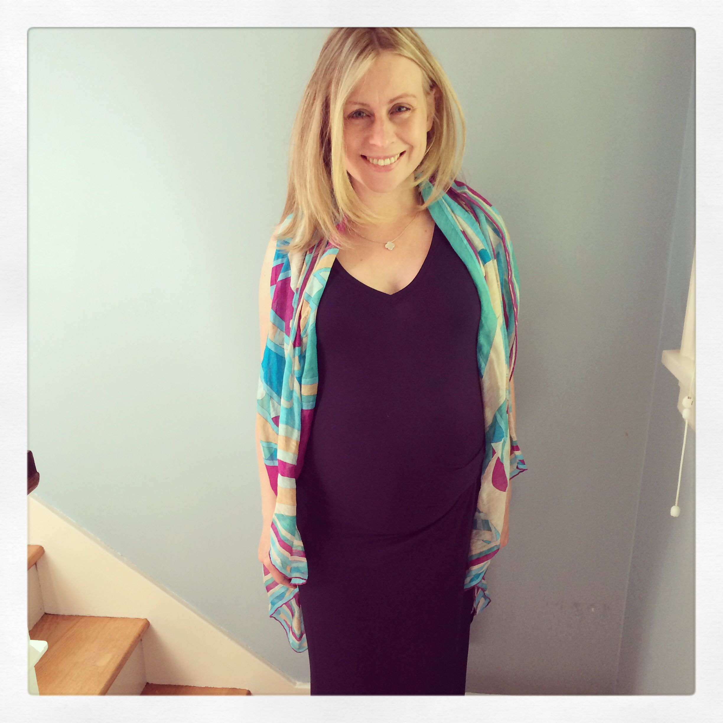 34 weeks in gap maternity dress and emilio pucci scarf ninas 34 weeks in gap maternity dress and emilio pucci scarf ombrellifo Gallery