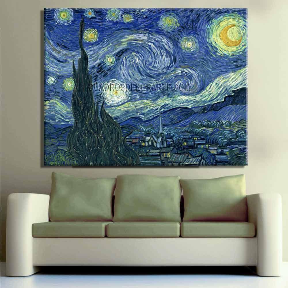 La Noche Estrellada Arte En Lienzo Noche Estrellada Cuadros De Arte