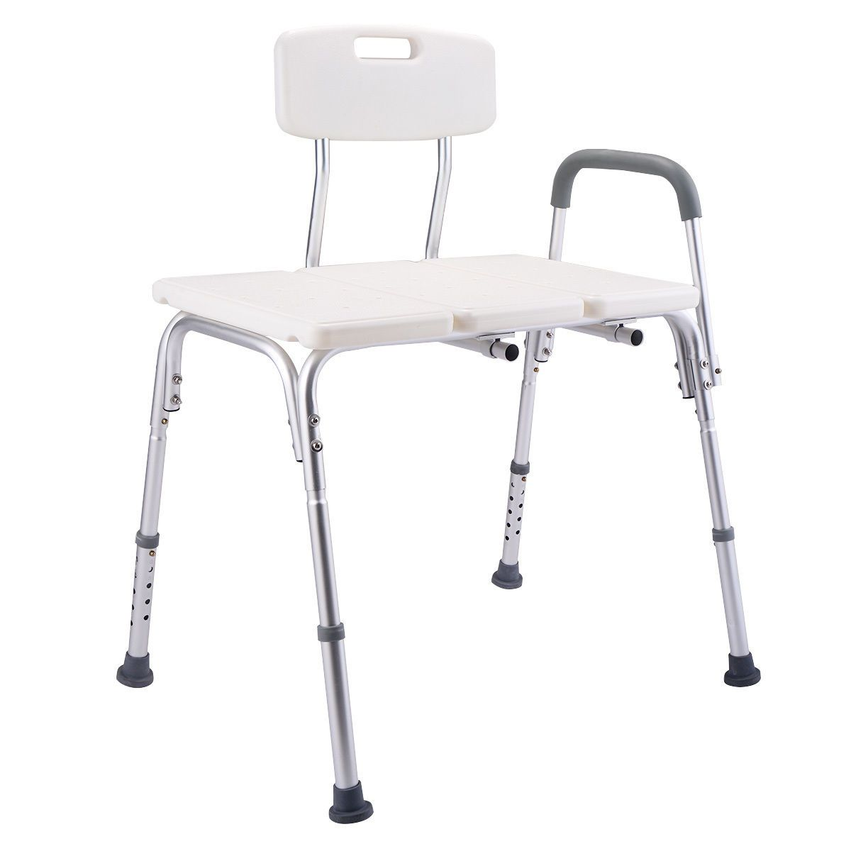 10 Height Adjustable Medical Shower Chair Bath Tub Bench Stool Seat ...