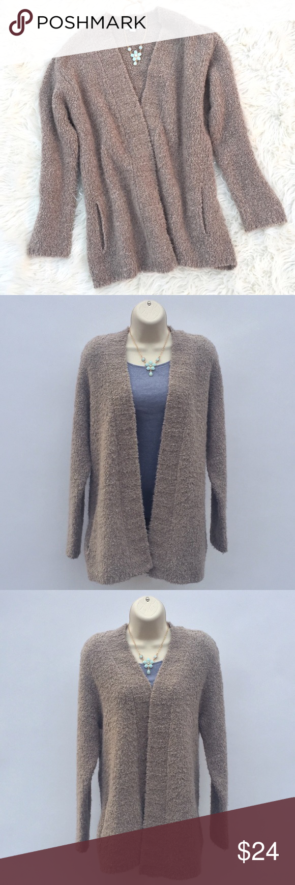 Cozy light brown cardigan sweater from J. Jill