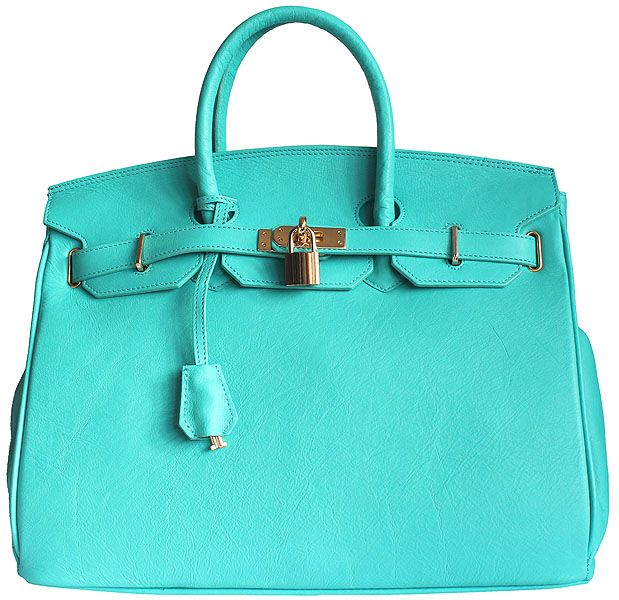Carbotti Designer Style Turquoise Leather Handbag Love The Colour