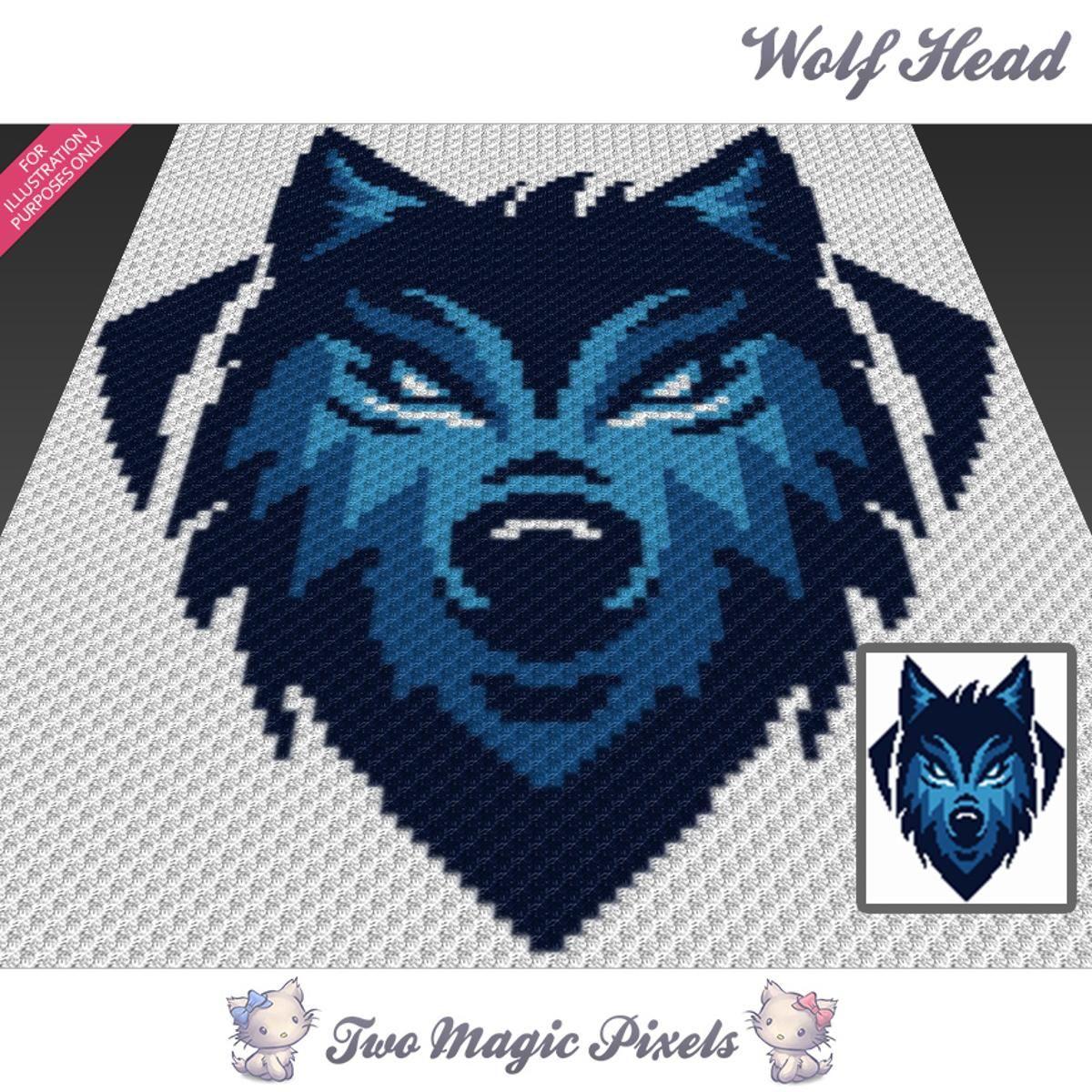 Wolf Head C2C Crochet Graph   Pinterest