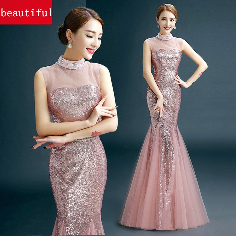 Fashion formal wedding prom party bridesmaid evening ball gown dress