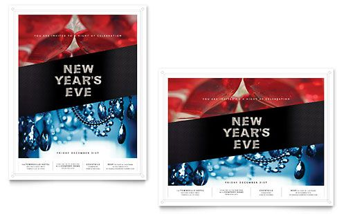 New Yearu0027s Eve Party Poster Template by @StockLayouts Design-ish - new year poster template
