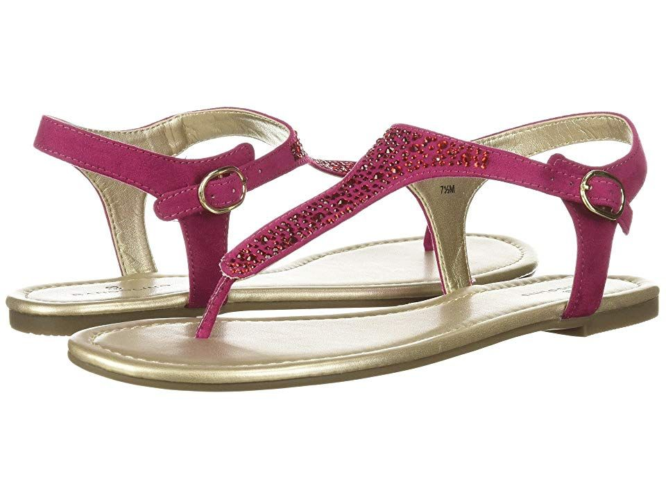 72e014aa2ba These Bandolino Kyrie thong sandals will keep you shimmering from dawn to  dusk. Rhinestone embellished textile upper. Ankle strap with adjustable  buckle ...