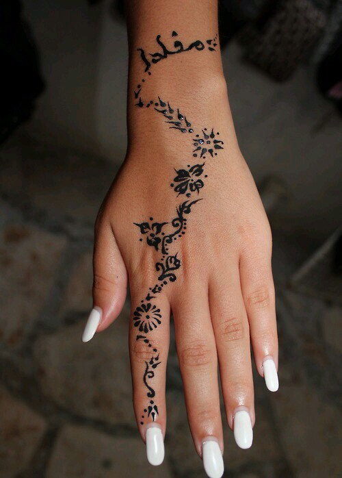 Simple henna (With images) Tribal hand tattoos, Hand