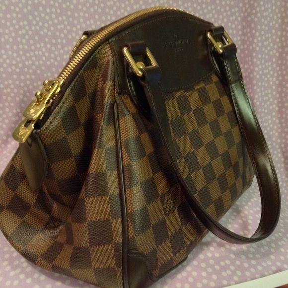 927c18253c9a Louis Vuitton Verona PM Authentic Louis Vuitton Damier Ebene Canvas Leather Verona  PM with original tag. Lightly used. Louis Vuitton Bags Shoulder Bags