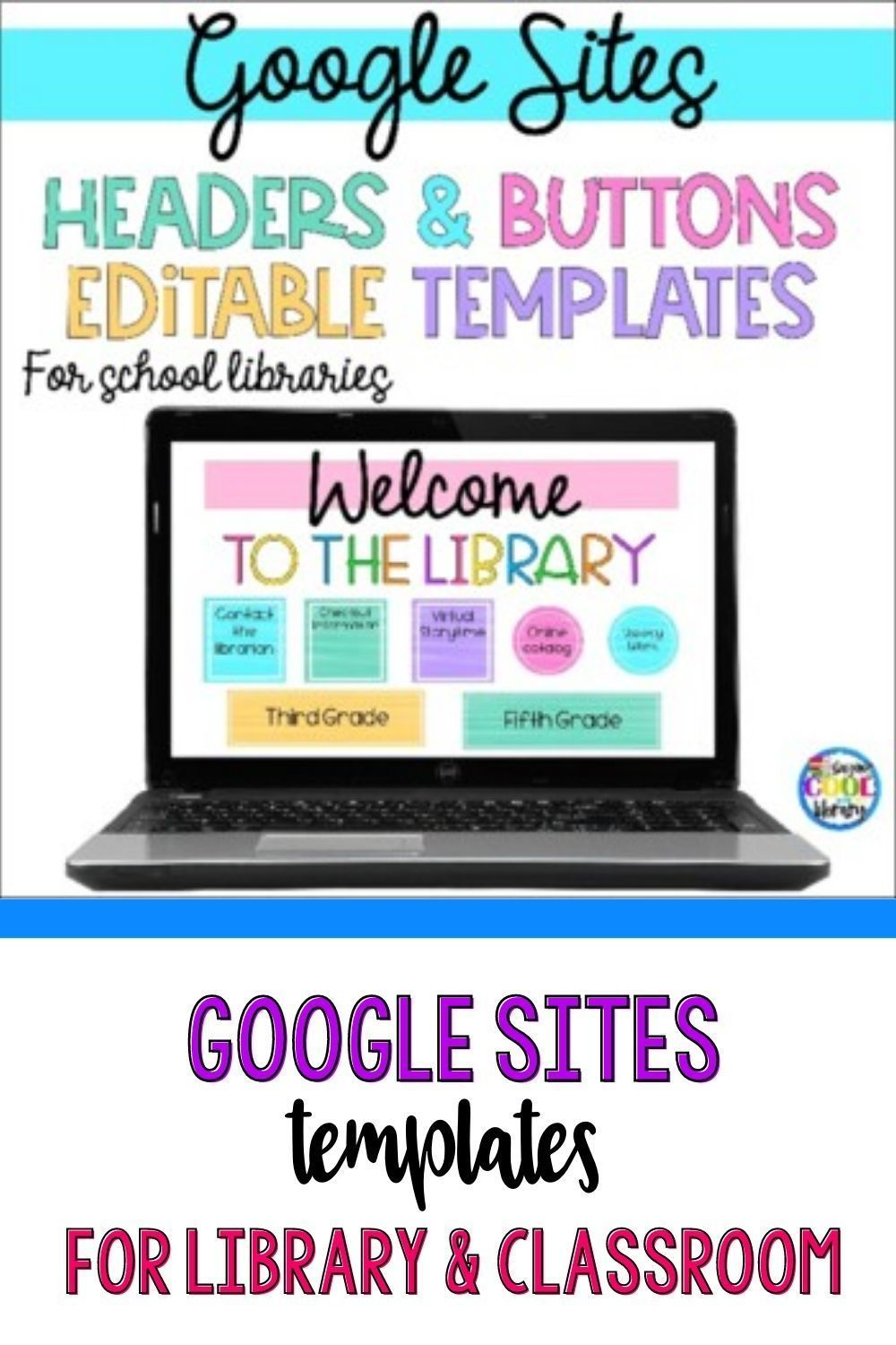 Google Sites Templates Classroom Or Library Templates Library Lesson Plans Library Skills School Library