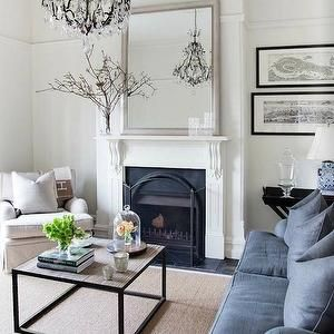 oversized silver mirror living room - Google Search
