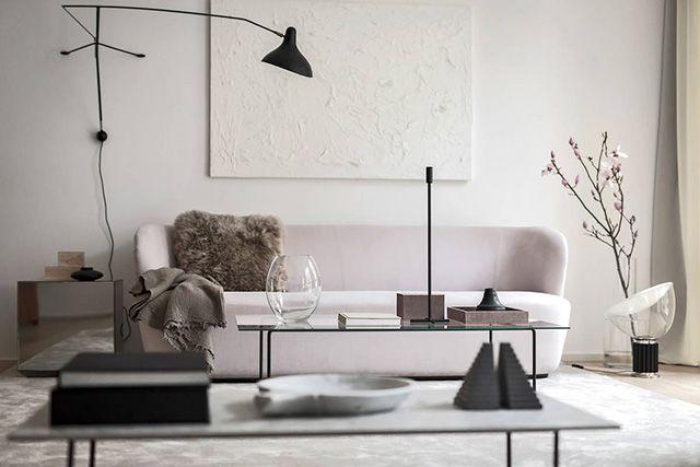 Een prachtig minimalistisch huis met een luxe interieur