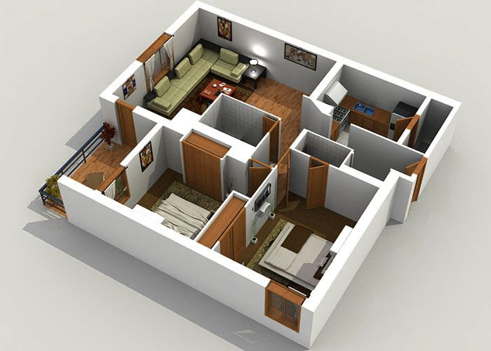 3d House Plans 3d floor plan apartment google search Find This Pin And More On House Plans And Ideas