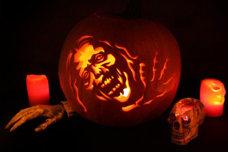 printable zombie pumpkin template  Pumpkin Carving Patterns and Stencils - Zombie Pumpkins ...