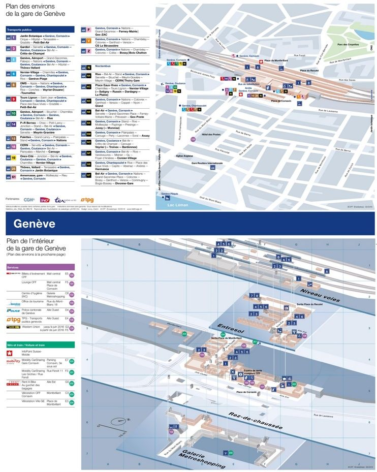 Geneva train station map | map | Train station map, Train ...