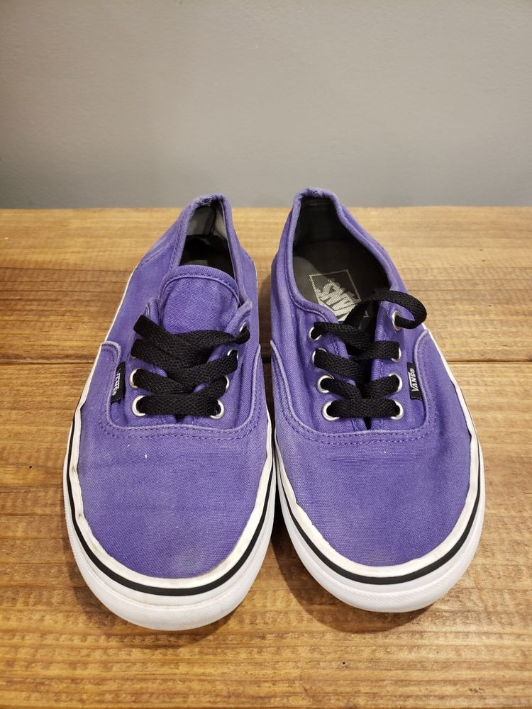 4e7aff0ee25f22 Vans Low Top Solid Purple Skateboard Unisex Shoes Men s Size 5 Women Size  6.5  VANS  Skateboarding