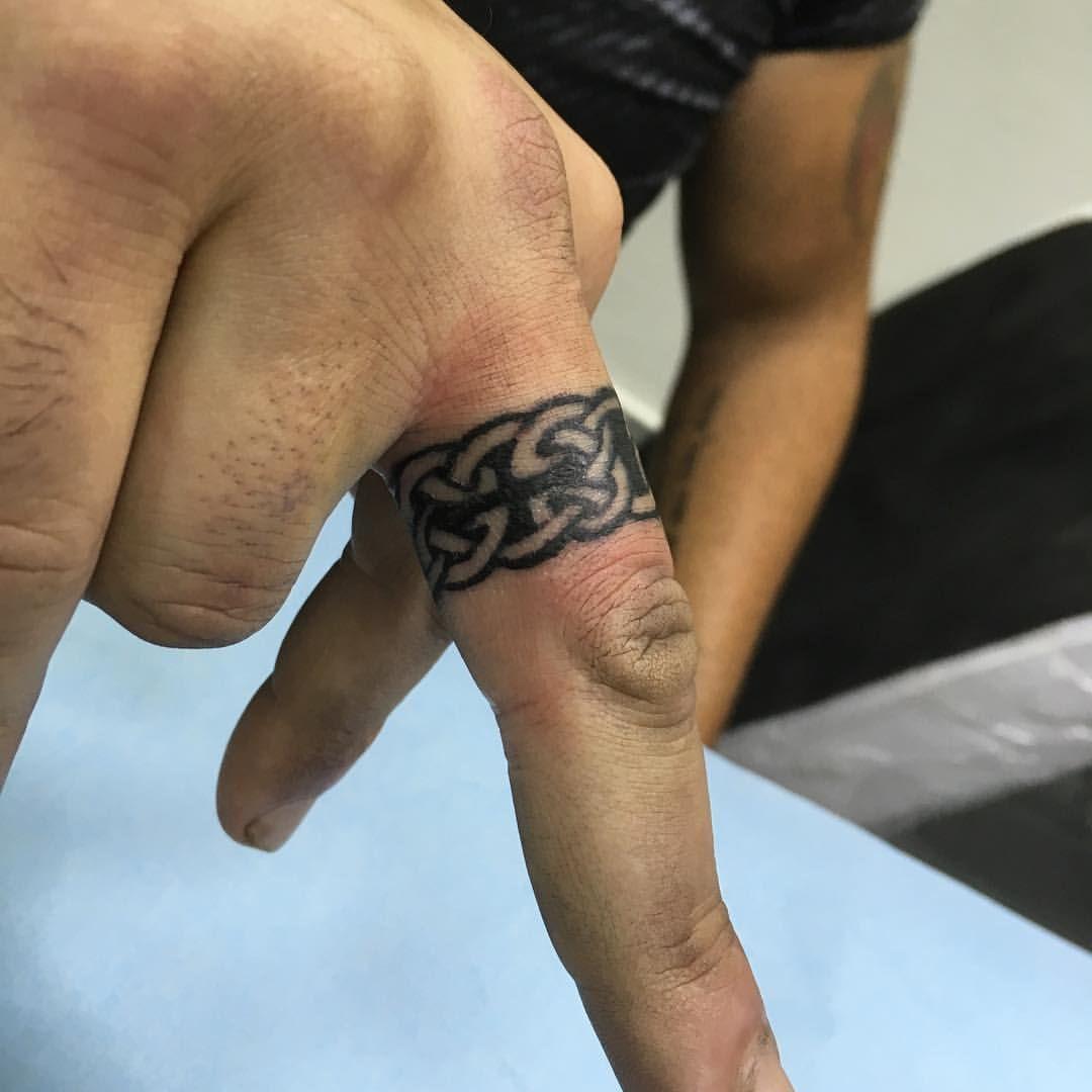 Celtic ring tattoo by naor cohen naortattoos wedding