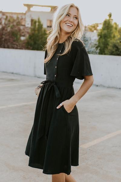 Beckett Woven Dress | ROOLEE #blackdresscasual Beckett Woven Dress | ROOLEE #blackdresscasual