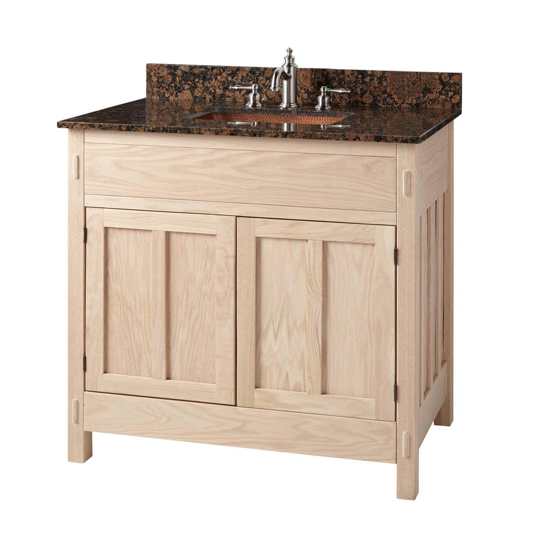 36 Unfinished Mission Hardwood Vanity For Rectangular Undermount Sink Bathroom Vanities B Unfinished Bathroom Vanities Bathroom Vanity Diy Bathroom Vanity [ 1500 x 1500 Pixel ]