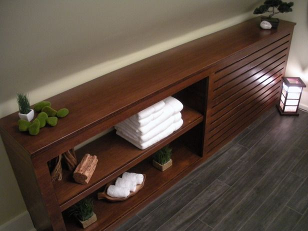 BUILD A CUSTOM BAMBOO RADIATOR COVERThis cover conceals a radiator and does double duty as storage.