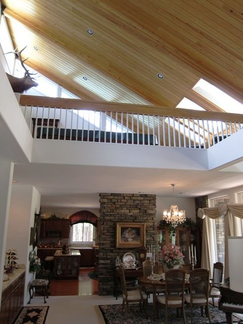 Vaulted Ceiling With A Loft Possible Game Room House Exterior Home House