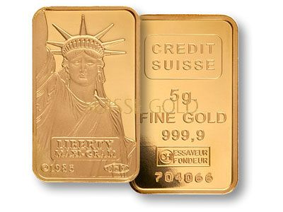 Credit Suisse 5 Gram Liberty Gold Bar Gold Bullion Coins Credit Suisse Gold Bullion Bars