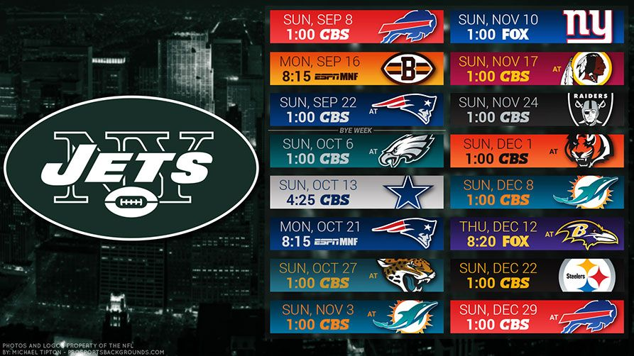 2019 New York Jets Wallpapers Nfl football schedule