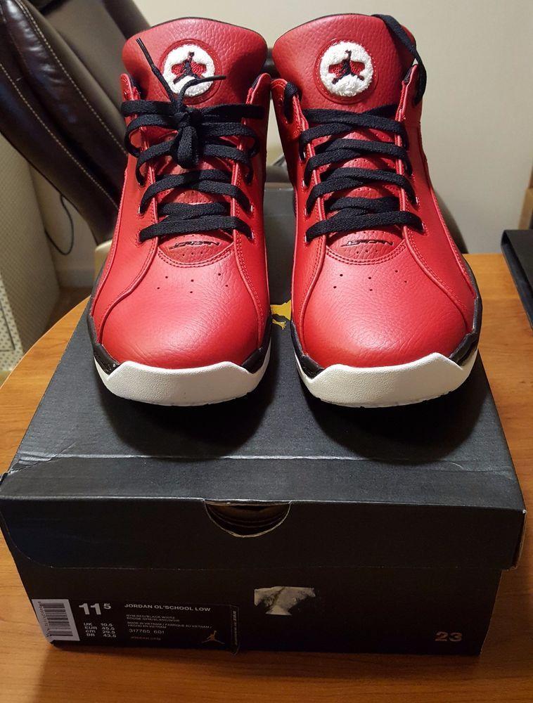 d1185196e2c3 Jordan Ol School Low Mens Basketball Shoes 317765-601 Size 11.5  Nike   BasketballShoes