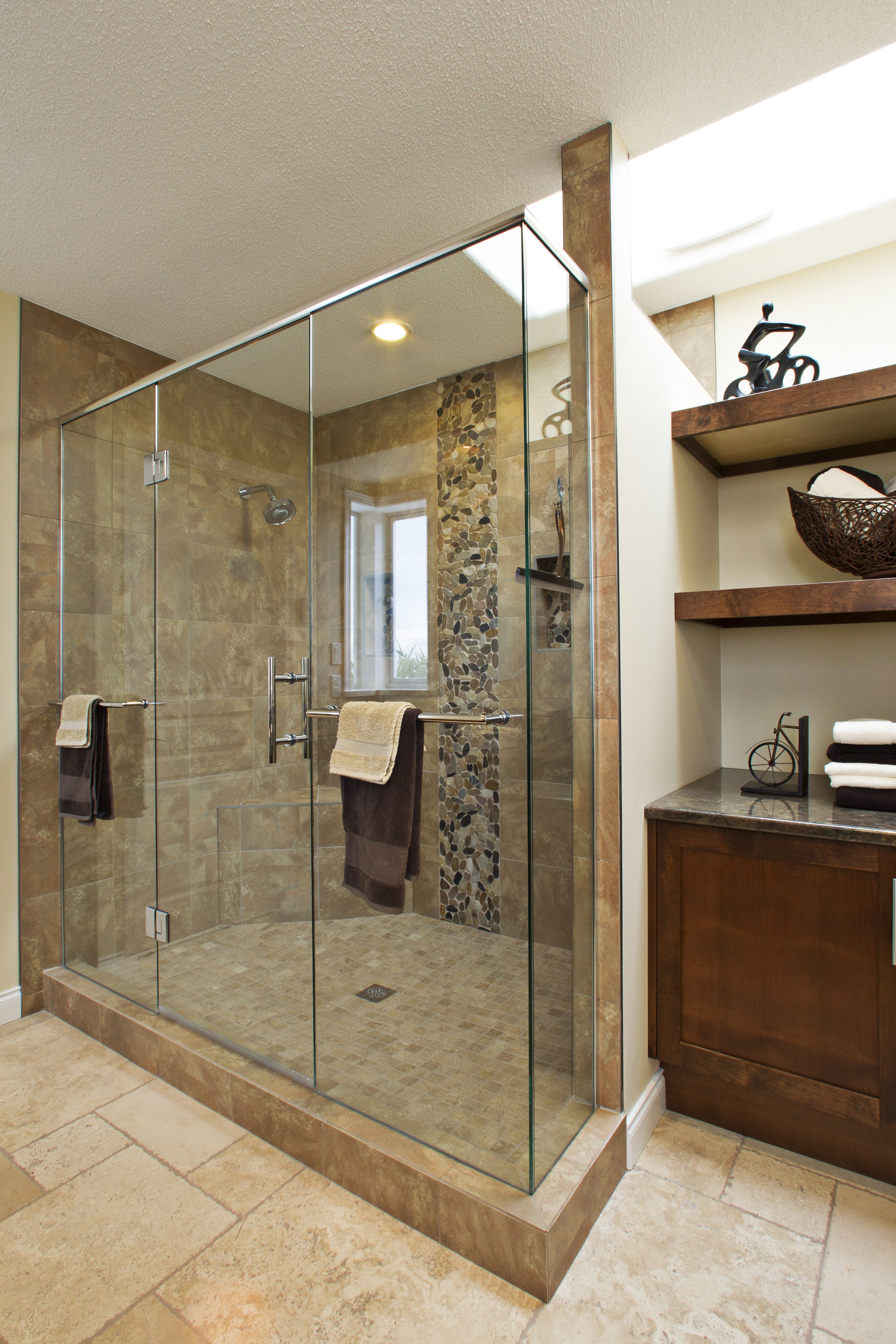 Ensuite Bathroom Walk In Shower With Custom Tiling