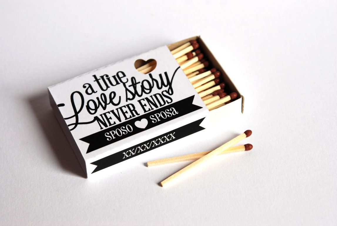 matchbox favor Love Story Artistichousewife | paper | Pinterest ...