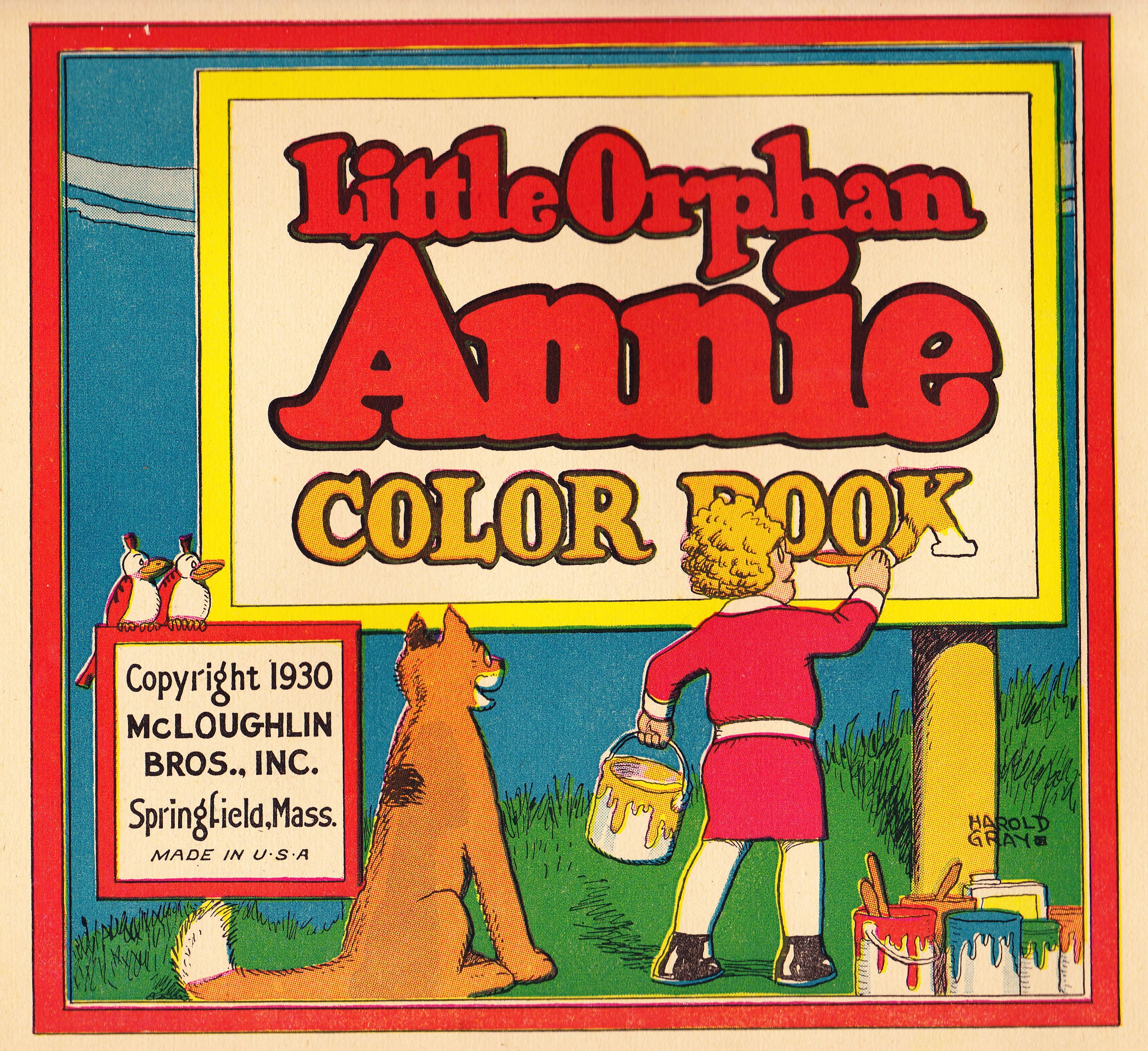Little Orphan Annie Coloring Book, 1930 (inside front cover ...