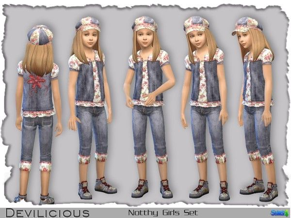 The Sims Resource: Notthy (naughty) Girls Set by Devlicious • Sims 4