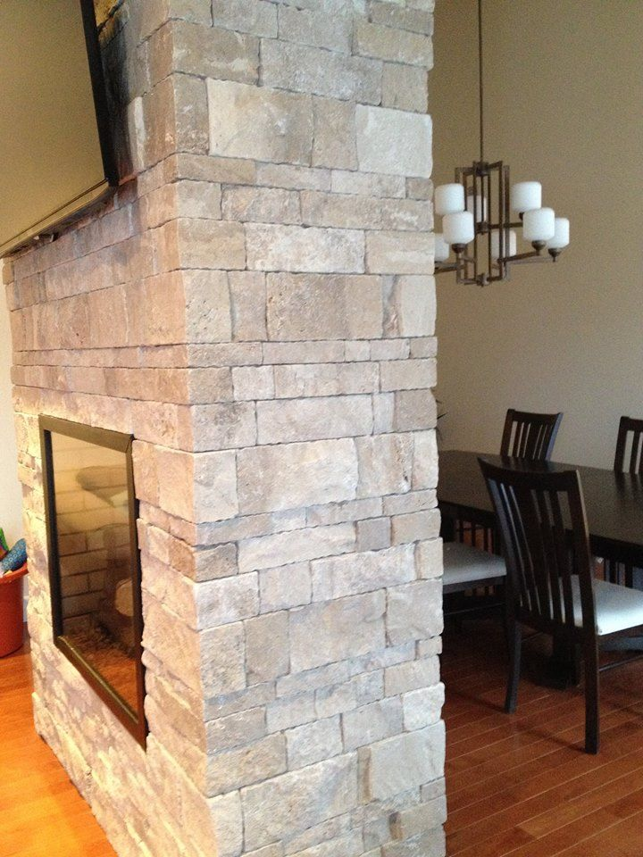 Proper Corners Make A Big Difference Gorgeous 2 Sided Fireplace Install By Surface Design With Erthcovi Natural Stone Veneer Patio Fireplace Fireplace Design