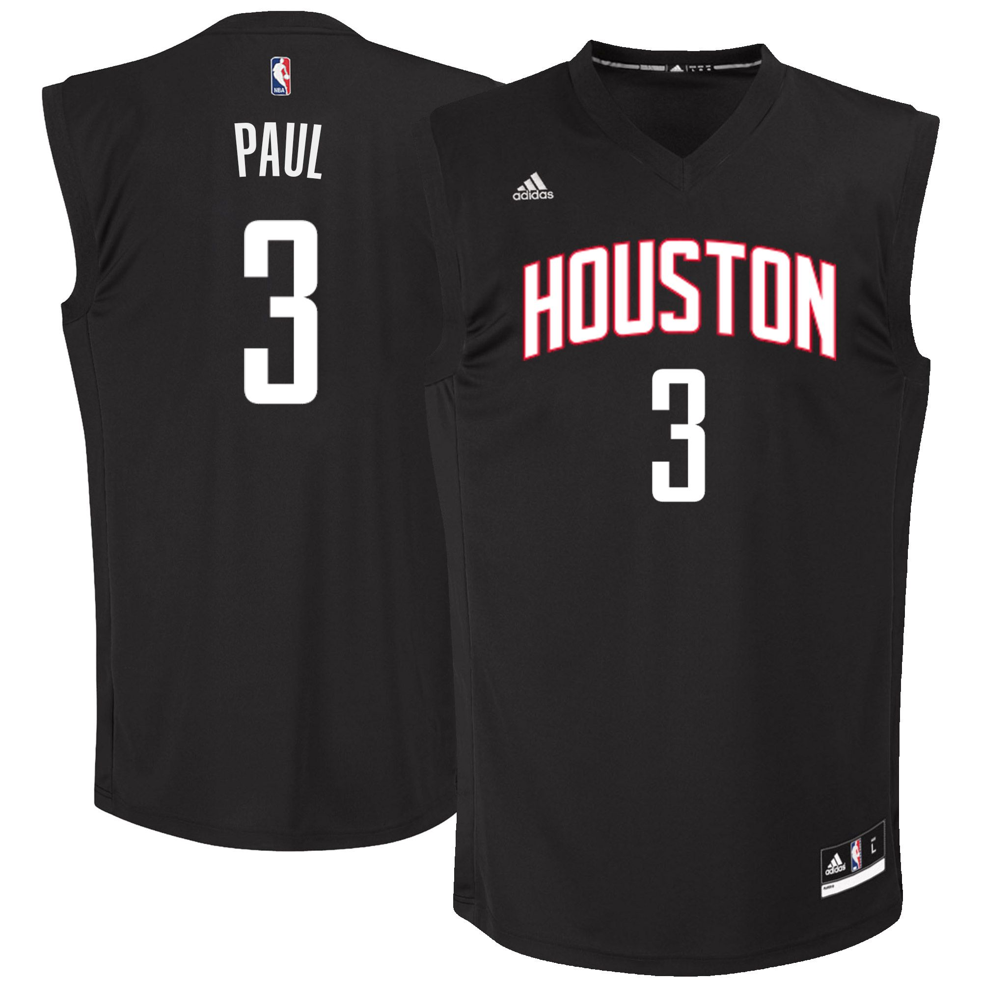 9e2f9f2ef Men s Houston Rockets Chris Paul adidas Black Chase Fashion Jersey ...