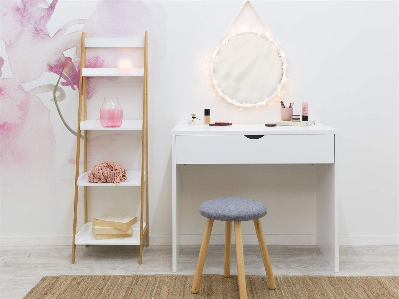 22 Brilliant Makeup Desk Ideas Black Vanity Table Dressing Table Without Mirror Kids Dressing Table