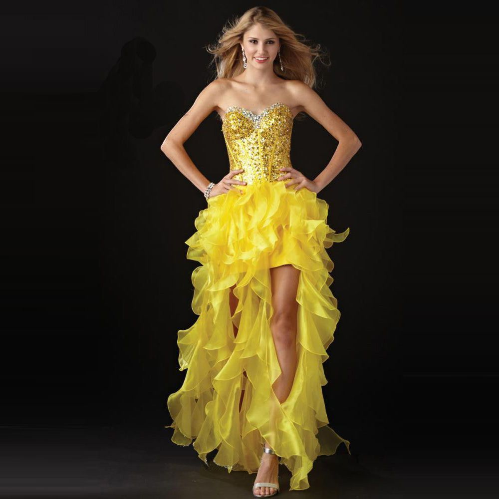 Click to buy ucuc elegant sweetheart sequiined prom dresses short