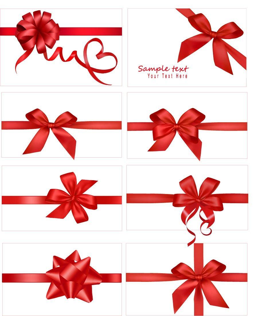 Ribbons 03 Gift Bows Bow Vector Gift Ribbon
