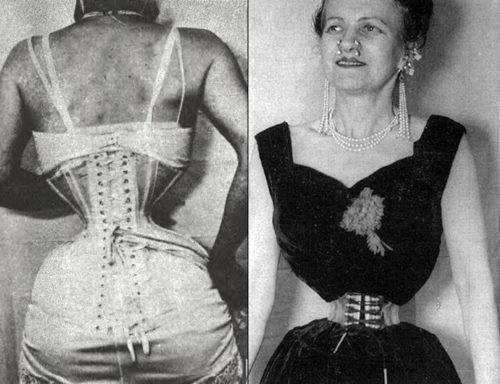 Ethel Granger Of England The Smallest Waist On Earth In Modern Times 1959 Photo Measurements 36 13 39 This Was Ethel Granger Corset Training Corset Fashion