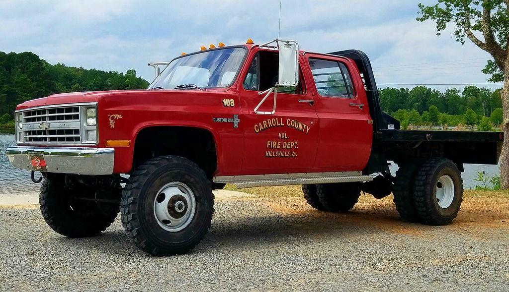 86 K30 Crew 6 Lift Chevy Pickup Trucks Chevy Trucks Trucks