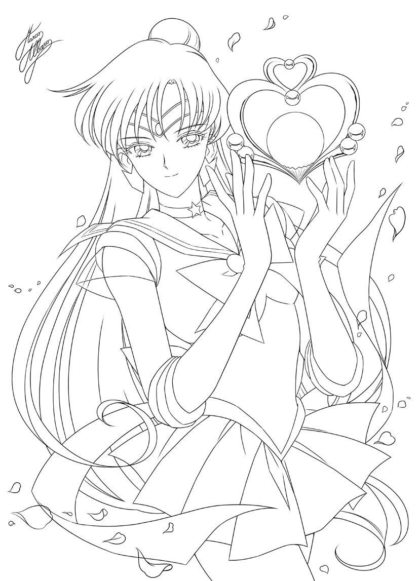 sailor saturne Sailor moon coloring pages, Sailor moon